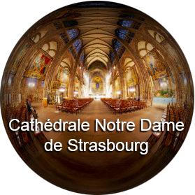 Cathédrale Notre Dame de Strasbourg - Photographie sphérique 360° - Visite virtuelle