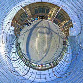 Gare de Strasbourg - Verrière - Photographie sphérique 360° - Visite virtuelle