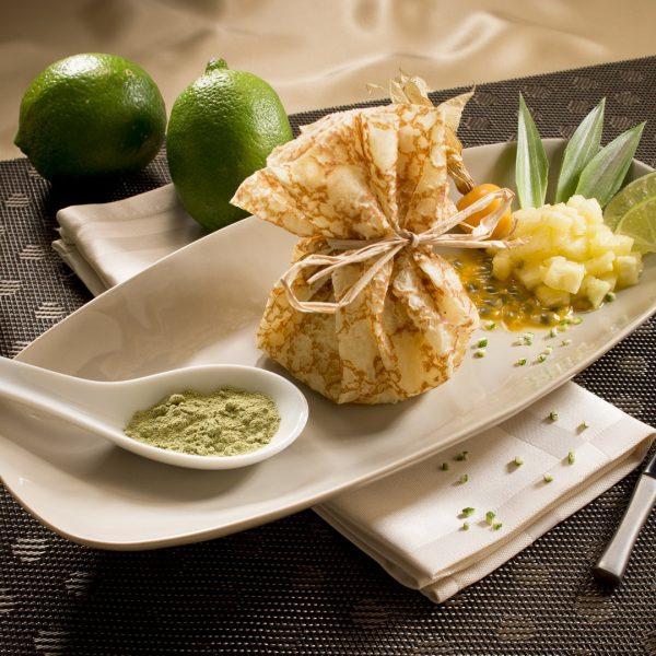 Aumonière d'ananas au citron vert - Photographe culinaire Strasbourg 67 Alsace