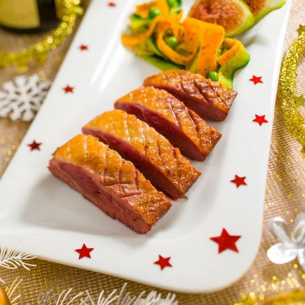 Magret de canard ambiance Noël - Photographe culinaire Strasbourg 67 Alsace