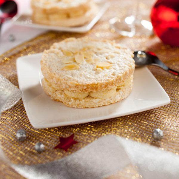 Dessert ambiance Noël - Photographe culinaire Strasbourg 67 Alsace