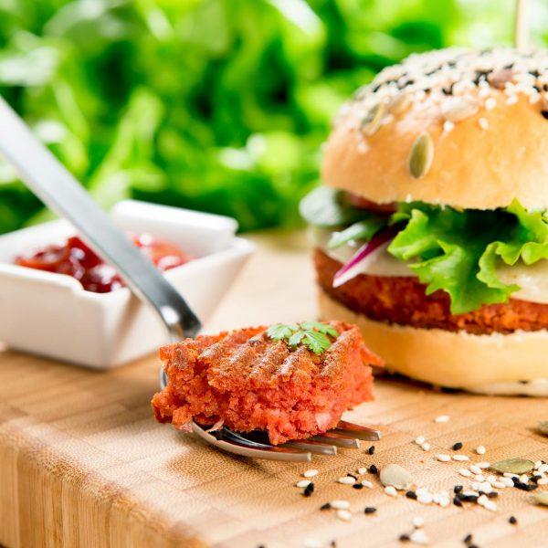 Burger végétal - Photographe culinaire Strasbourg 67 Alsace