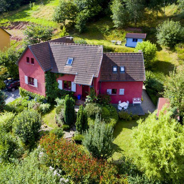 Prise de vue aérienne par drone - Maison individuelle à Reichsfeld