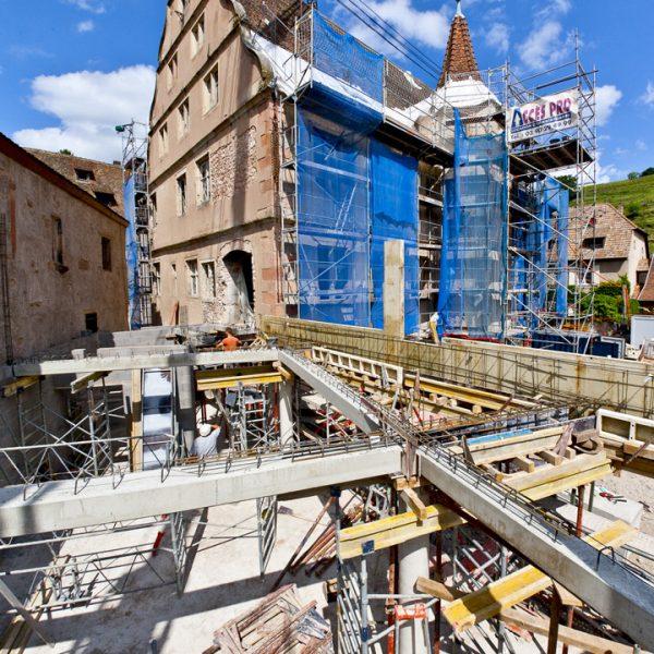 La Seigneurie d'Andlau - Couverture photographique des travaux de rénovation - Architecture - Chantier