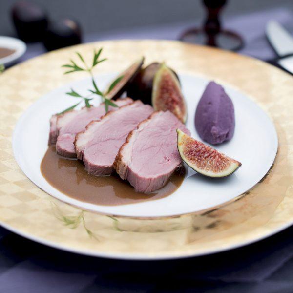 Magret de canard, sauce aux figues - Photographie culinaire Strasbourg 67 Alsace