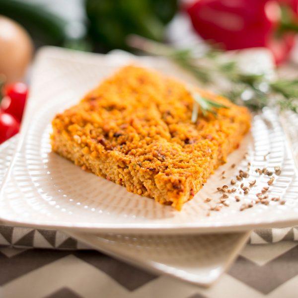 Gâteau de semoule à la ratatouille - Photographe culinaire Strasbourg 67 Alsace