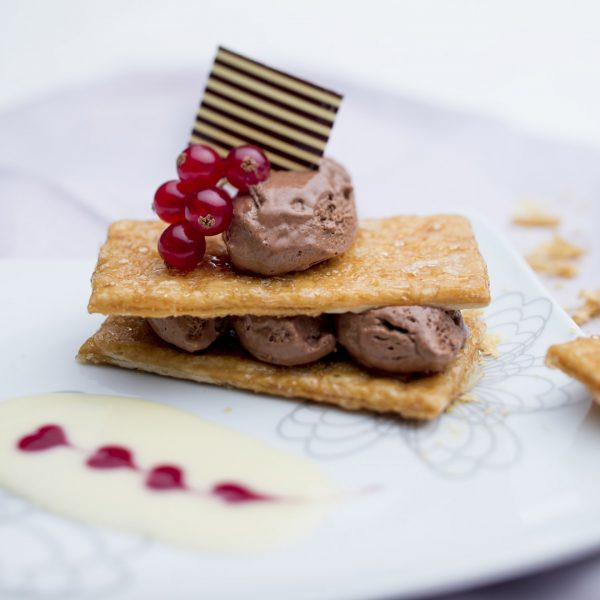 Rectangle mille feuille - Photographie culinaire Strasbourg 67 Alsace