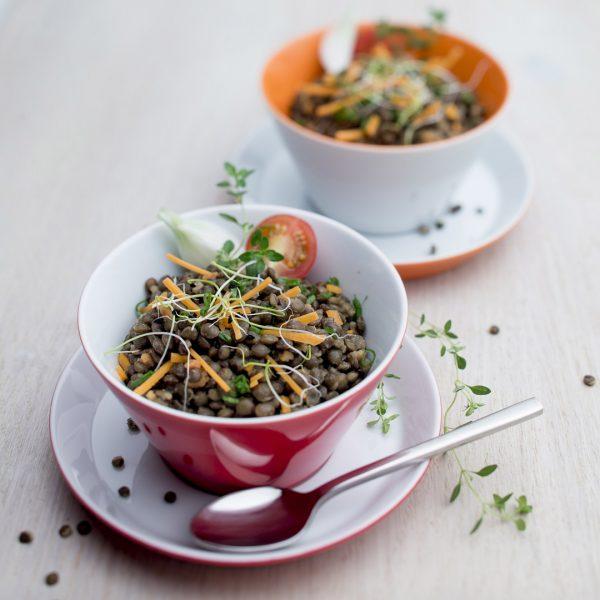 Lentilles en salade - Photographie culinaire Strasbourg 67 Alsace