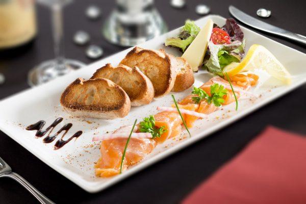 Entrée de saumon - Photographe culinaire Strasbourg 67 Alsace