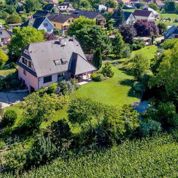 Prise de vue aérienne par drone - Maison individuelle à Kertzfeld