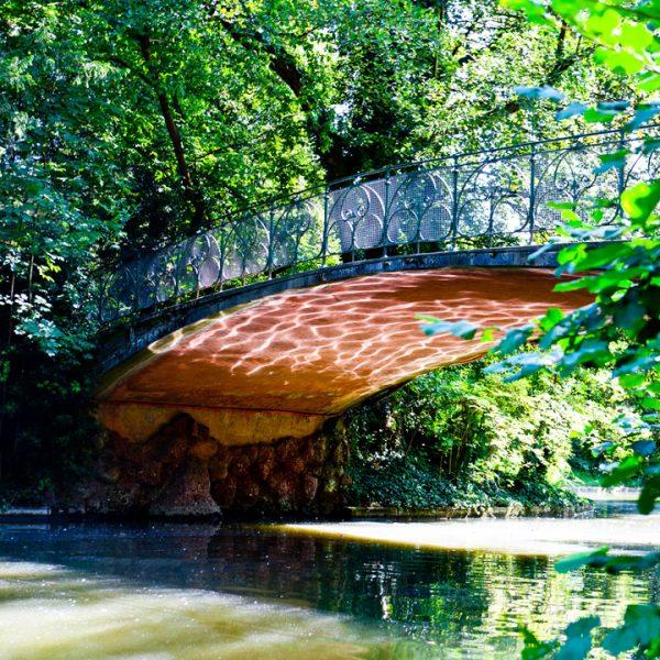 Petit pont du Jardin de l'Orangerie à Strasbourg - Architecture
